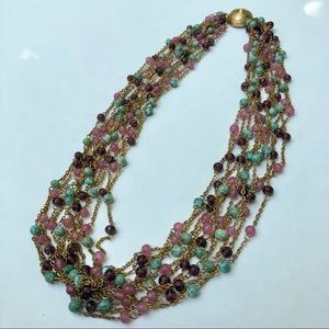 Vintage Multi chain beaded necklace